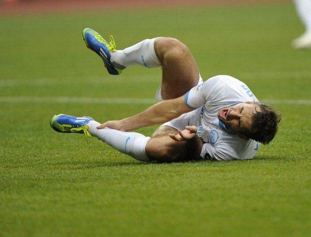 Травма голеностопа у футболиста