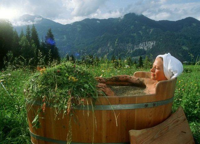 Прием ванны с травами