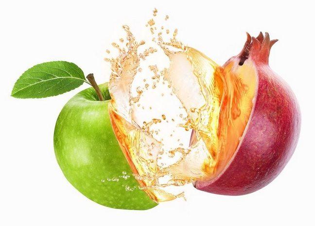 Сок яблока и граната