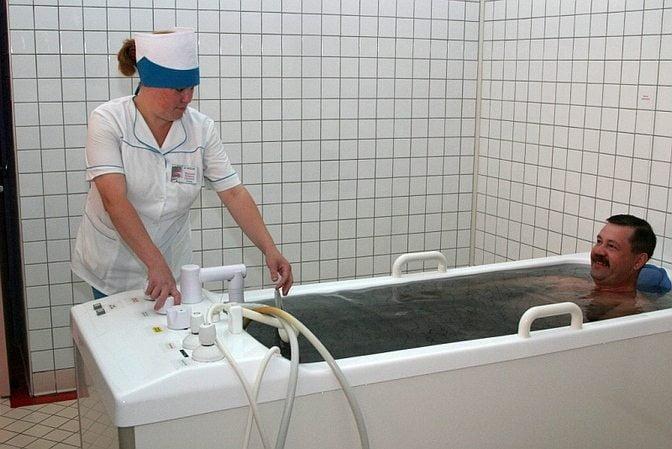 Прием сероводородных ванн