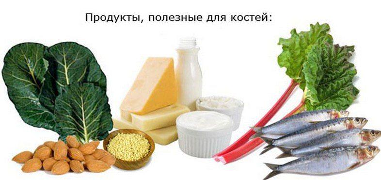 Полезный для костей продукты
