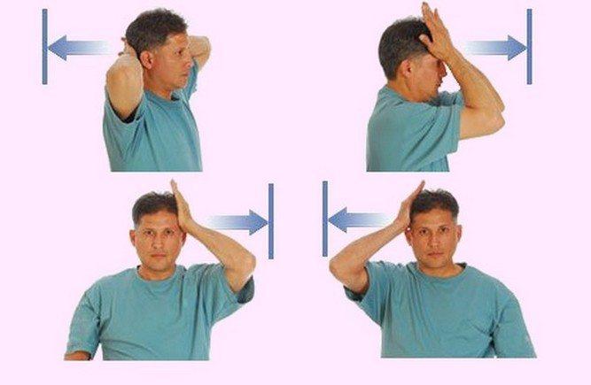 Упражнение при шейном остеохондрозе