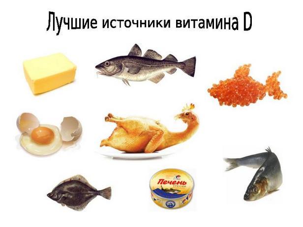 Продукты богатые витамином Д