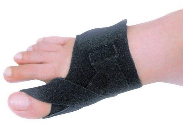 Компресс на большой палец ноги