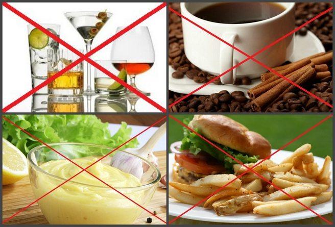 Вредные продукты при подагре
