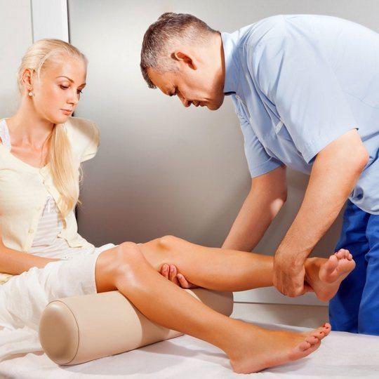 Подготовка к массажу колена