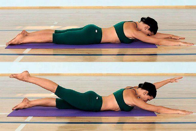 Упражнение при остеохондрозе поясницы