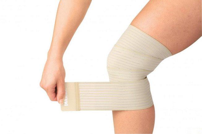 Эластичный бинт на коленный сустав
