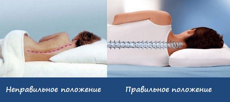 Правильное положение для сна