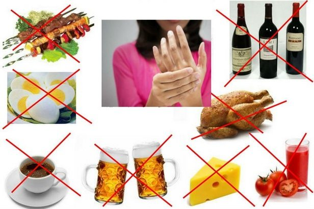 Запрещенные продукты при артрите