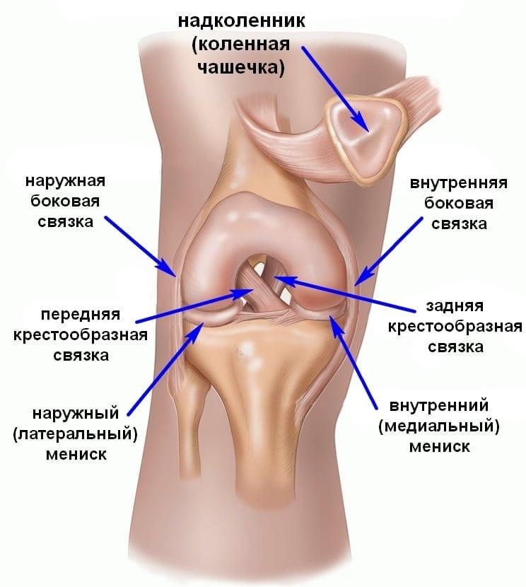 Воспаление связок коленного сустава это
