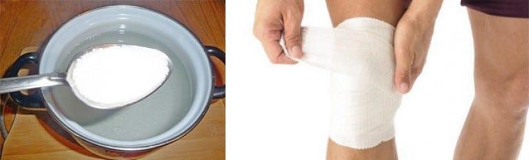 Как правильно делать компрессы на колено водочные с желчью бишофитом и горчицей