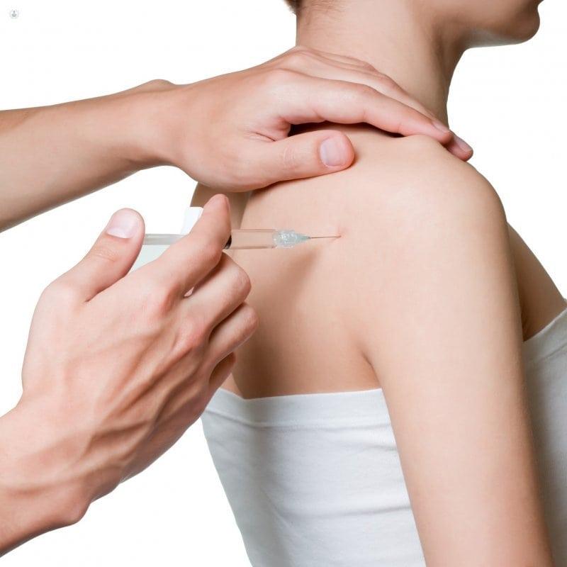 Блокада коленного плечевого тазобедренного сустава дипроспаном